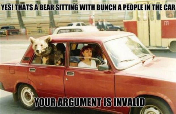 your argument is invalid (22)