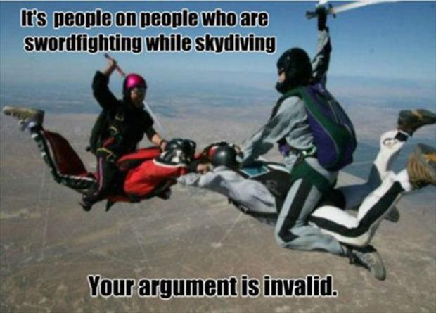 your argument is invalid (23)
