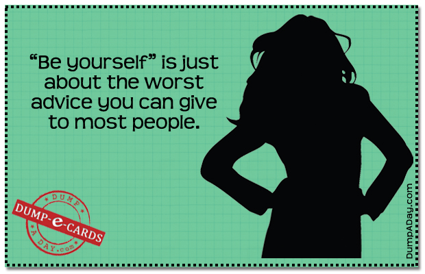 Be yourself E-card