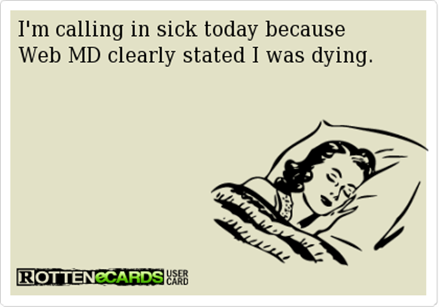 calling in sick today