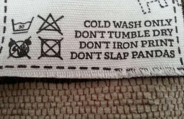 cloth wash instructions