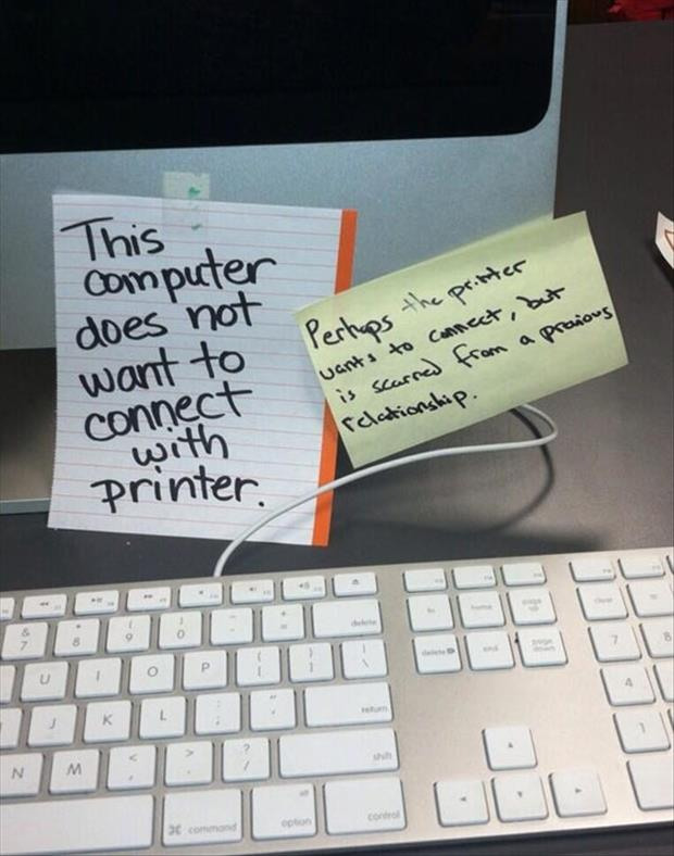 computer connecting with a printer