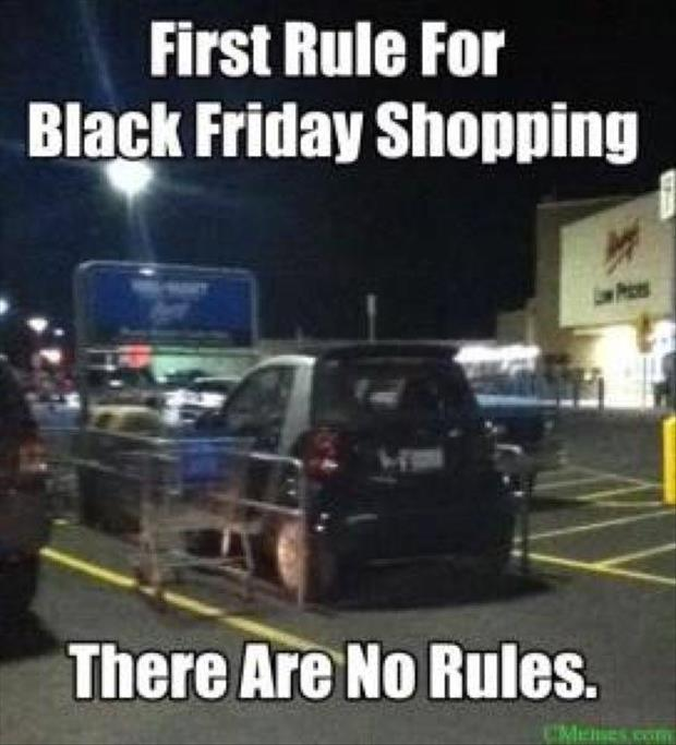 first rule of black friday shopping