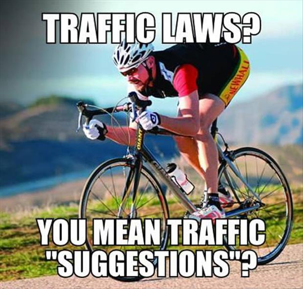 following the traffic laws