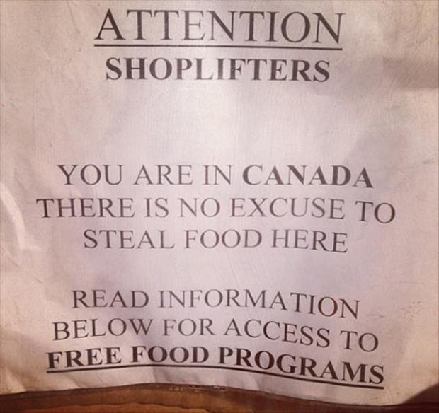 free food in canada