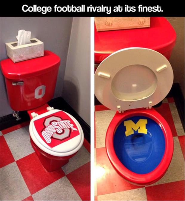 funny college football toilets