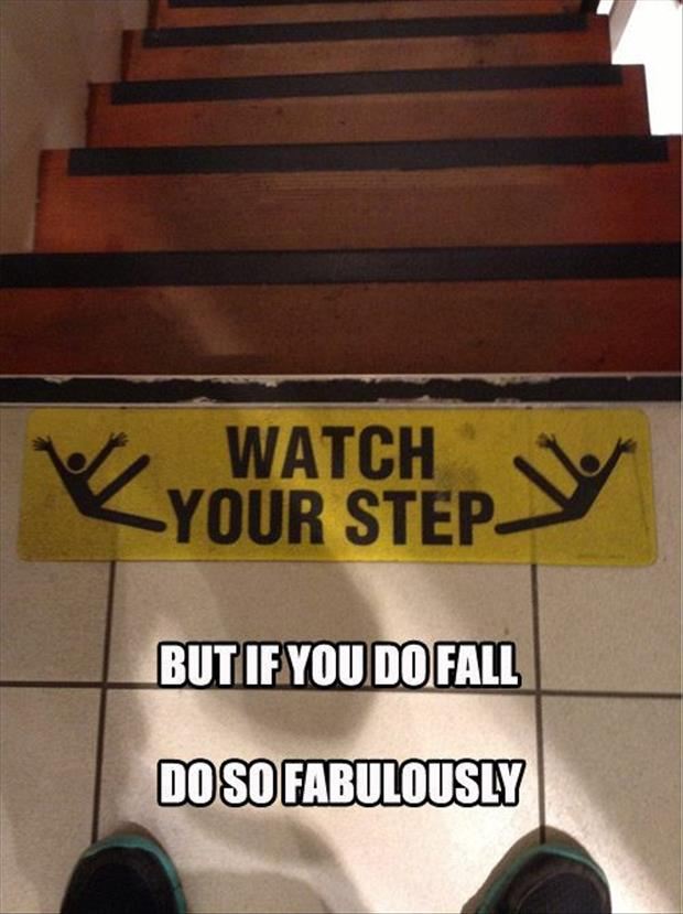 funny watch your step