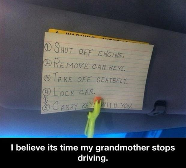 grandma needs to stop driving