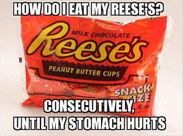 how to eat a reesess candy