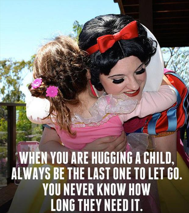 how to hug a child