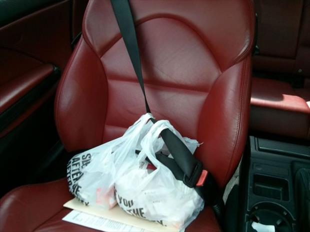 how to keep your grocery bags from sliding around the car