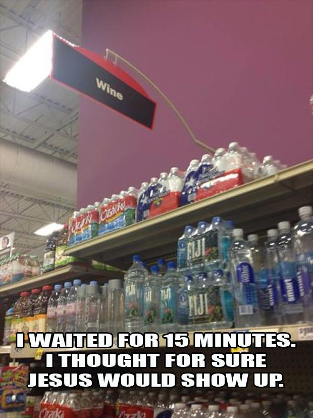 jesus to the water aisle