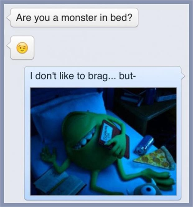 monster in bed