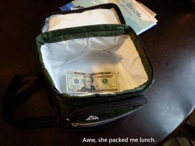 my wife packed my lunch