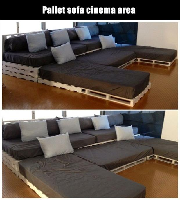 Amazing uses for old pallets 25 pics - Sillon home cinema ...