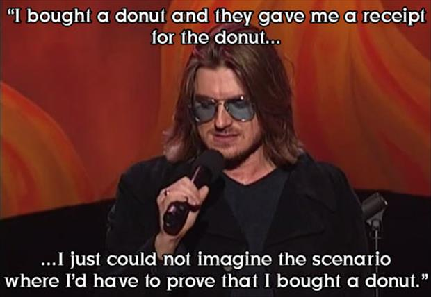 receipt for a donut