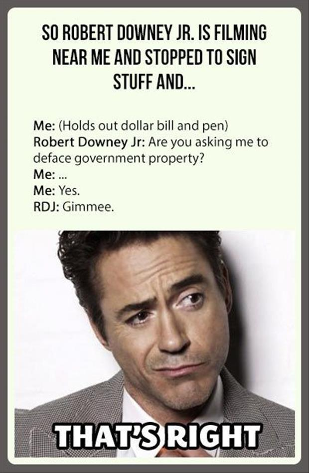 robert downey junior funny