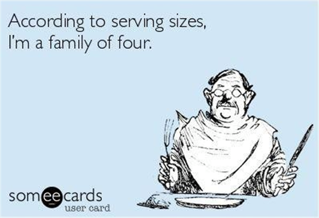 serving sizes family of four