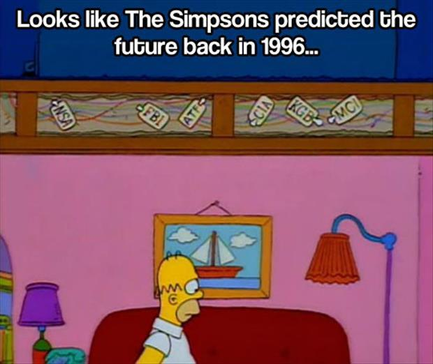 simpsons knew the government was spying on us