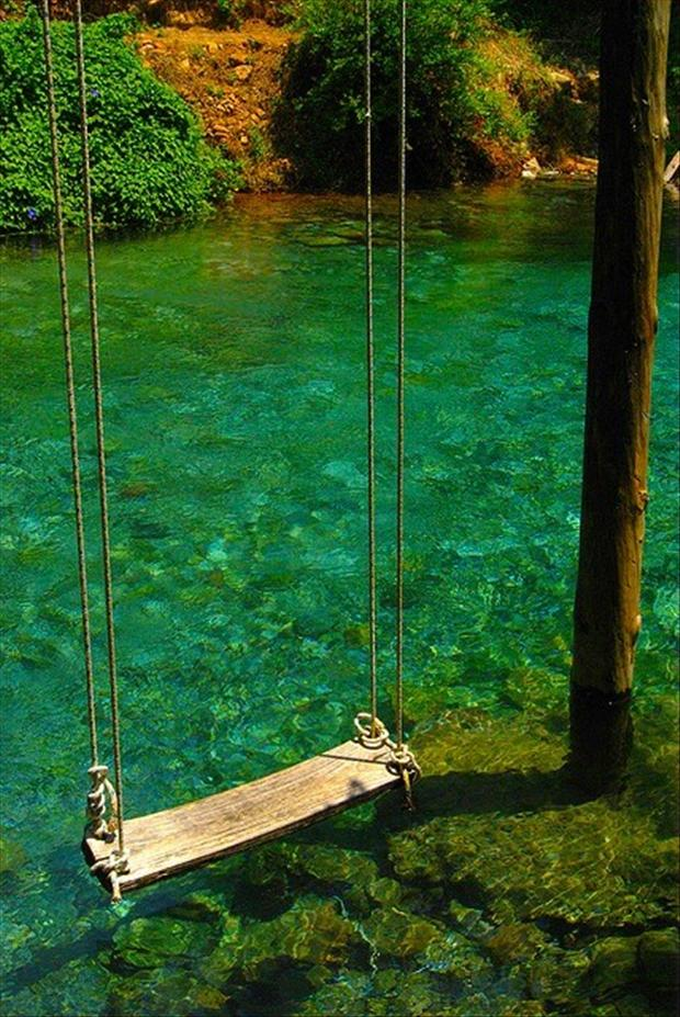 swing over water