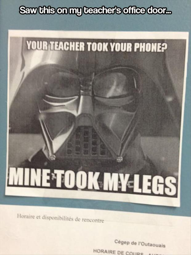 teacher took your phone