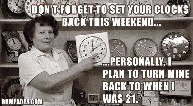 turn your clocks back