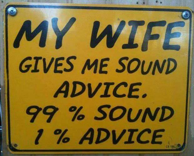 wife's advice
