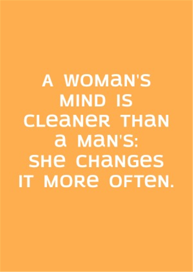 women have clean minds