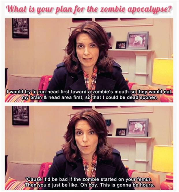 a funny plans for end of the world