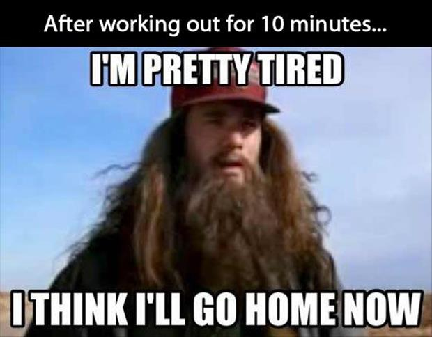 after working for ten minutes