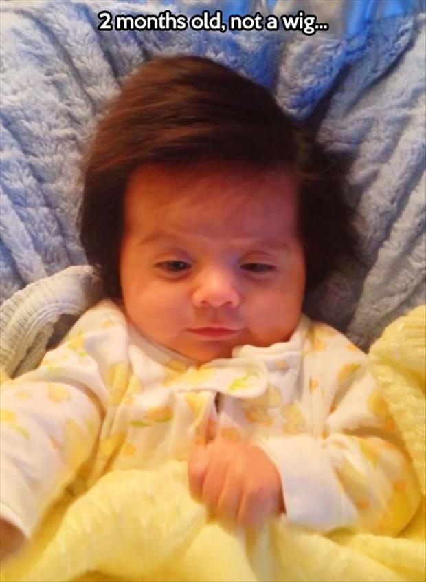 baby has an amazing head of hair