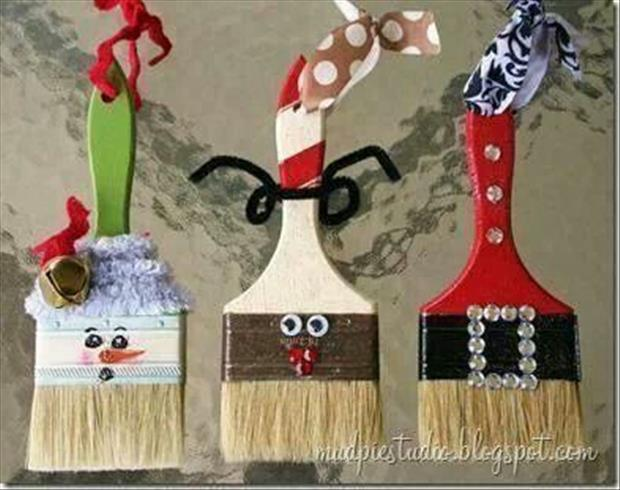 Simple Do It Yourself Christmas Crafts - 40 Pics