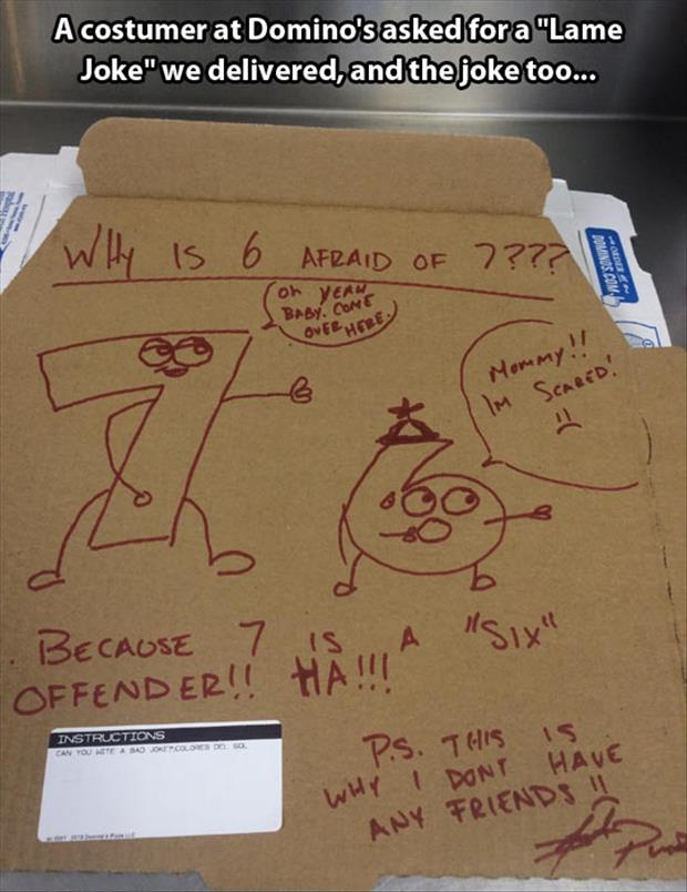 dominos pizza jokes