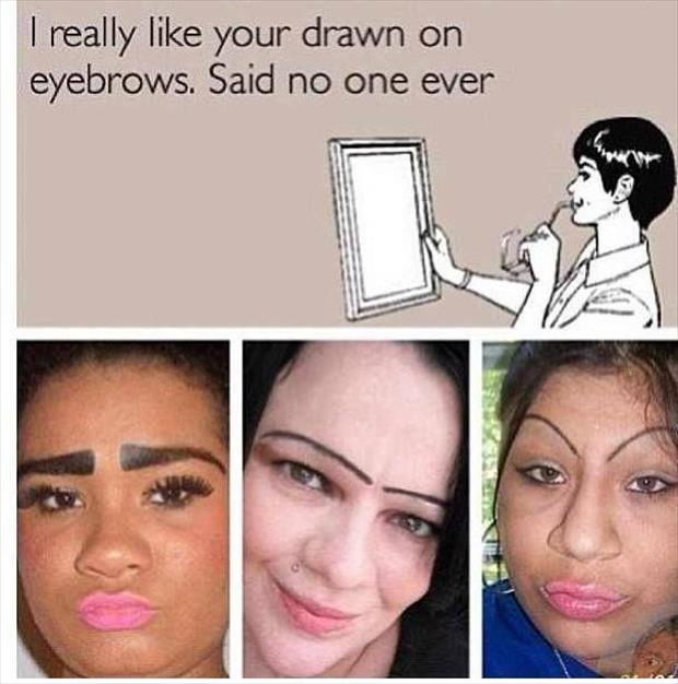 draw on eyebrows