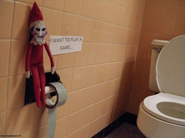 elf on the shelf wants to play a game
