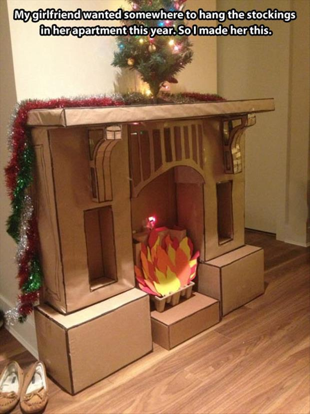 fireplace for stockings