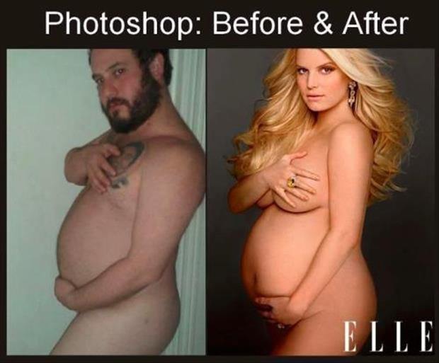 funny before and after photoshop