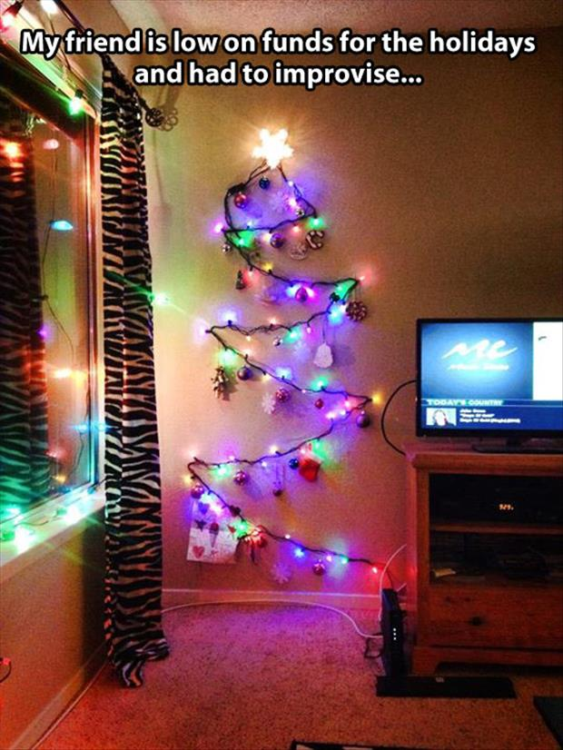 funny christmas trees