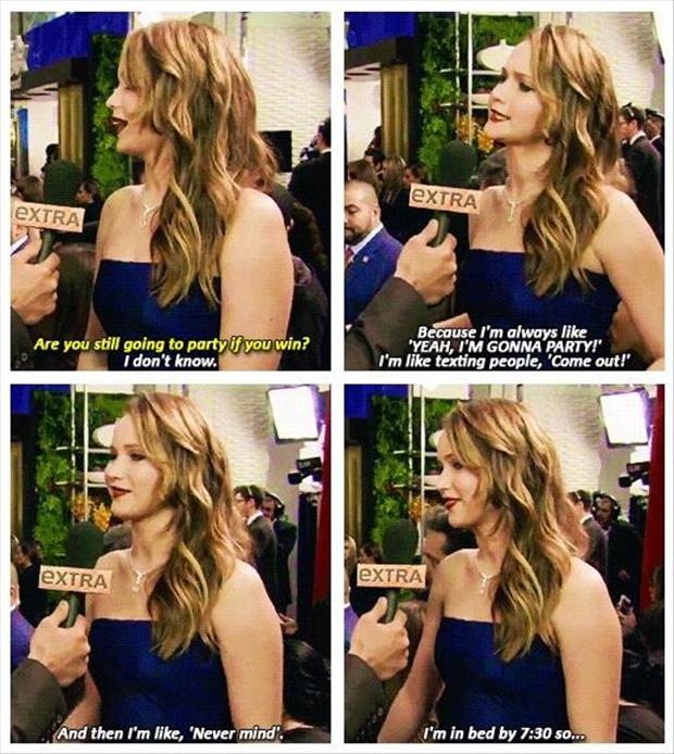 funny jennifer lawrence party
