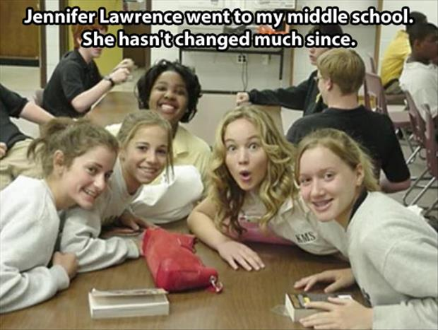funny jennifer lawrence went to my school