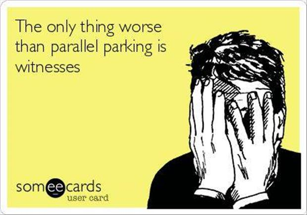 funny parrallel parking
