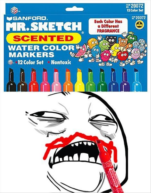 funny sniffing markers