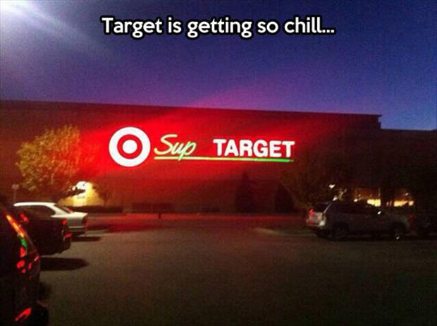 funny target signs
