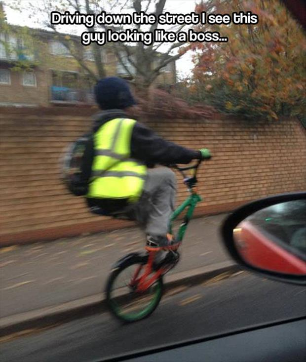 guy riding bike