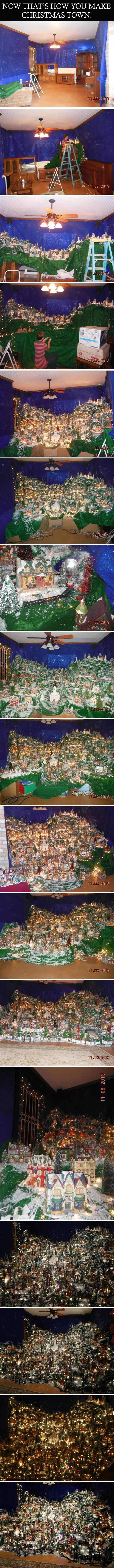 how to make a christmas town