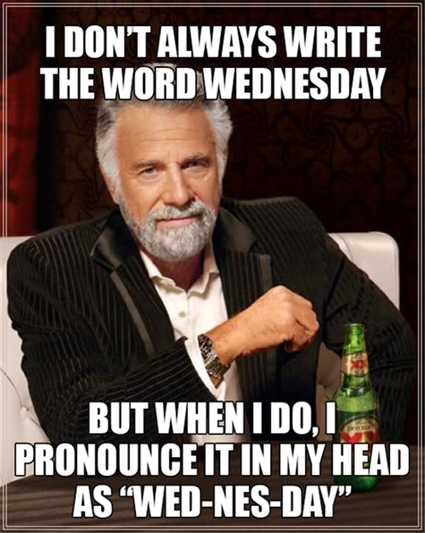 how to spell wednesday