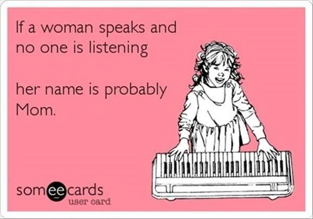if a woman speaks
