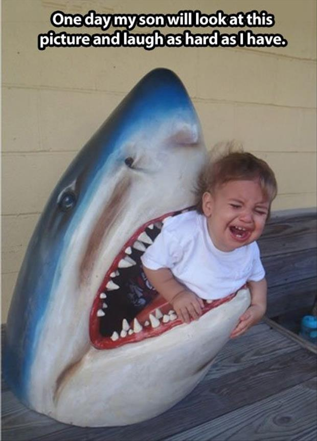 jaws eating a kid