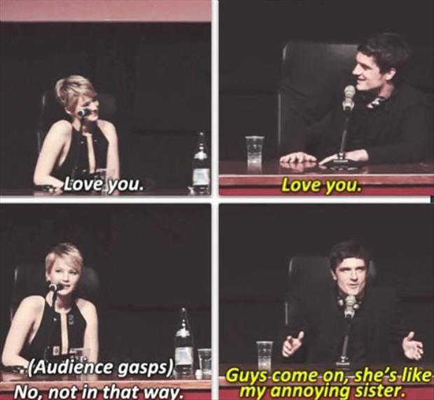 jennifer lawrence is an annoying sister