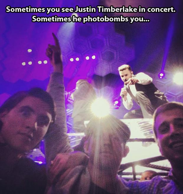 justin timberlake photobombs you